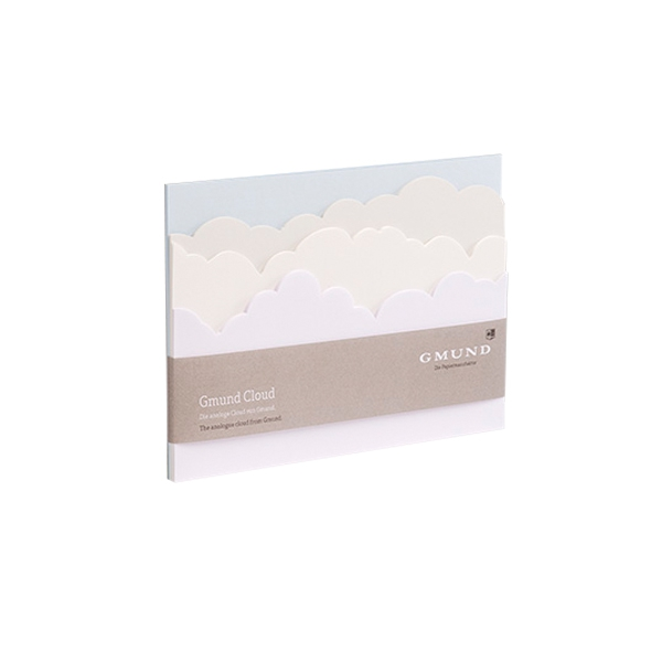 Block of tear-off paper note sheets Cloud Pastell