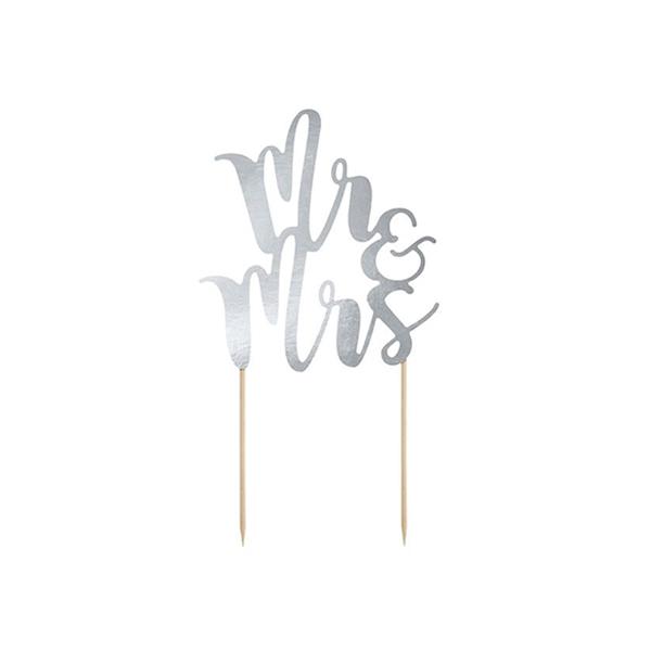 Dekors kūkām Mr & Mrs, 25.5 cm