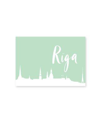 Pastkarte Rīga, zaļa
