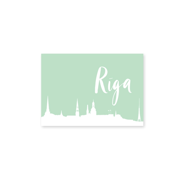Postage Riga, Light Green
