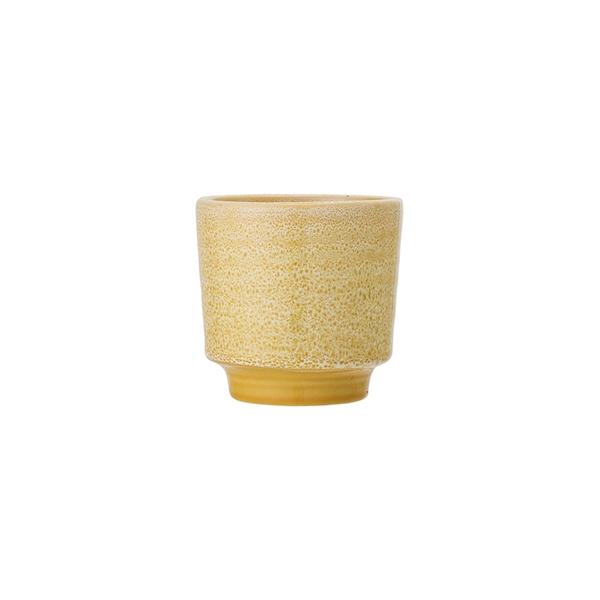 Puķu pods Yellow sprinkle, keramikas