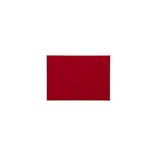 C7 izmēra aploksne ar trijstūrveida aizradi, sarkana