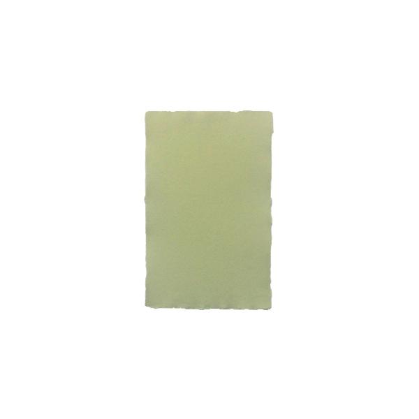 Rokas lējuma papīra kartīte, vienpusēja, zaļa
