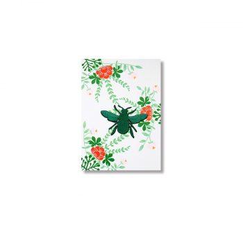Kartīte Bee, ar uzlīmi apģērbam