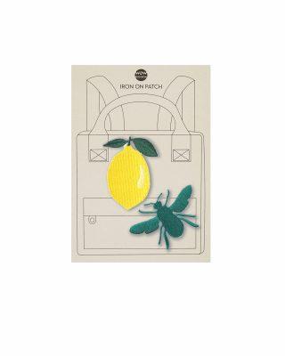 Uzgludināms izšuvums apģērbam Citrons + bite