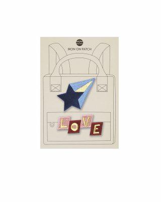Uzgludināms izšuvums apģērbam Zvaigzne + LOVE