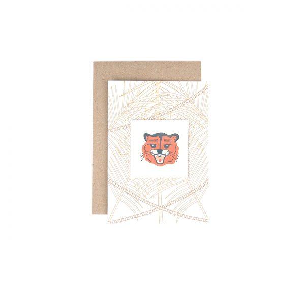 Kartīte Mežs un tetovējumu Tīģeris