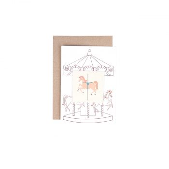 Kartīte Karuselis un tetovējumu Karuseļa zirgs