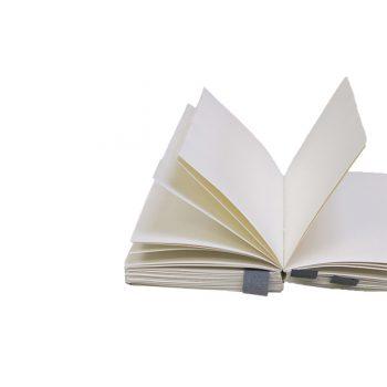 Piezīmju grāmata Log book, 17 cm x 12 cm, 180 lapas, balta