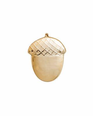 Keramikas šķīvis Zīle, liela, zelta krāsa