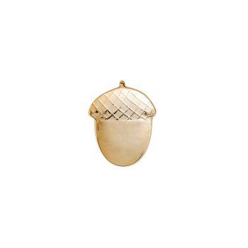 Keramikas šķīvis Zīle, maza, zelta krāsa