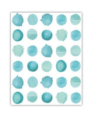 Dāvanu ietinamais papīrs Water drops, loksne
