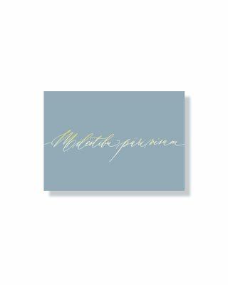 Mini kartīte Mīlestību pāri visam, pale blue, zelta folija