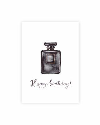 Kartīte Happy birthday, Coco noir, Beautiful Life