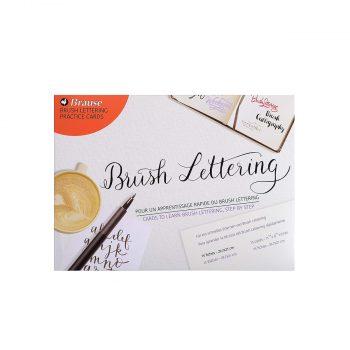 Kaligrāfijas vingrinājumu lapas Brush Lettering Practice Cards, 15 gab.