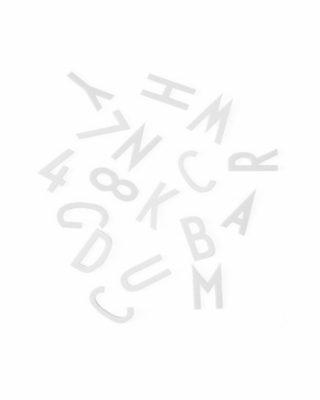 Burtu komplekts Ziņojumu tāfelei, liels, balts