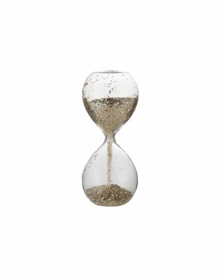 Dekoratīvs smilšu pulkstenis Glisia, zelta krāsa