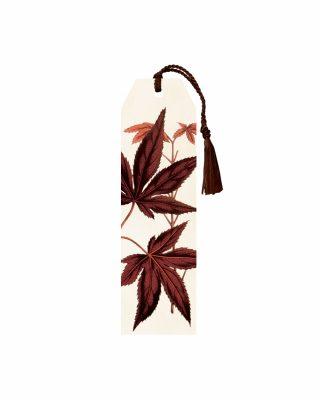 Grāmatzīme Red Leaves, ar pušķi