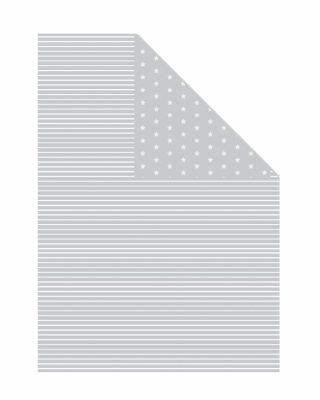 Dāvanu ietinamais papīrs Grey stripes and stars, abpusējs