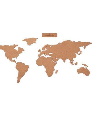 Pasaules karte, korķa tāfele