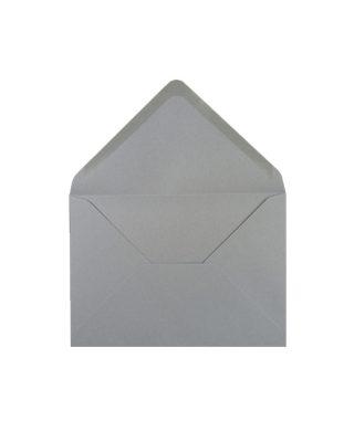 C6 izmēra aploksne, pelēka, ar trijstūra veida aizdari