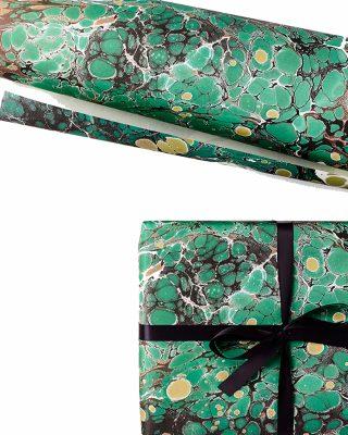 Dāvanu ietinamais papīrs Emerald Marble