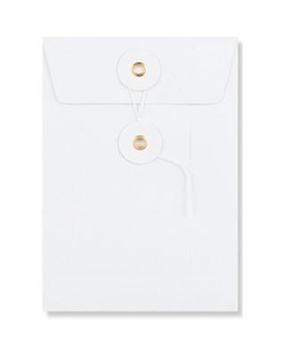 C4 izmēra aploksne ar diega aizdari, balta