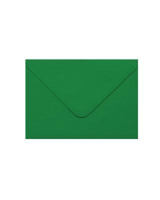 C6 izmēra aploksne, tumši zaļa, ar trijstūra aizdari