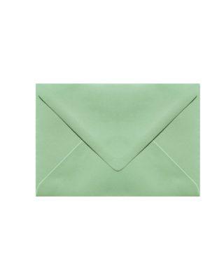 C6 izmēra aploksne, pasteļu zaļa, ar trijstūra veida aizdari