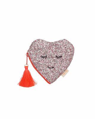 Maks monētām Glitter Heart