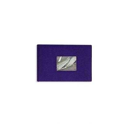 Mini fotoalbums, lina vāks, 17,5 x 12 cm, 12 bildēm, violets
