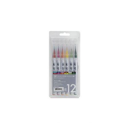 Flomāsteru komplekts ZIG Clean color Real Brush, 12 gab.